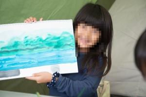 絵の具で菖蒲ヶ浜