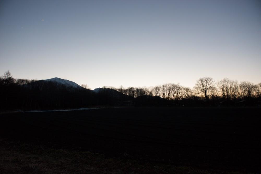 夜の浅間山:軽井沢スウィートグラス