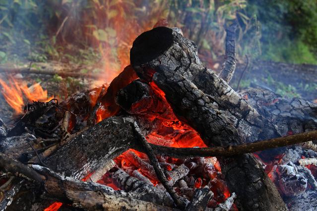 焚き火ー冬キャンプ